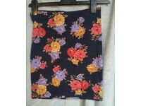 Skirt forever 21 s small 8 6 bnwt mini short bodycoon party casual floral blue bodycoon tight
