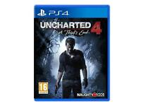Uncharted 4 BRAND NEW SEALED playstation 4