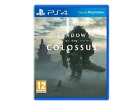 shadow of the colossus , ps4 , one day old ! price stands , no offers !