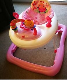 Baby walker with musical toy