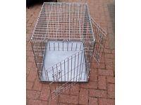 Medium Folding Dog/Puppy Training Crate with Metal Tray