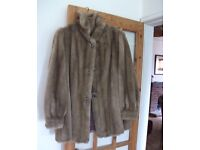 Gorgeous Honey-coloured Fauz fur Jacket by TISSAVEL (France) Great cond. Size 12-16