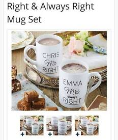 Personalised his and her mugs