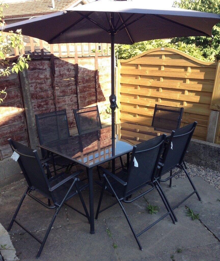 Argos home milan garden 6 seater metal patio set