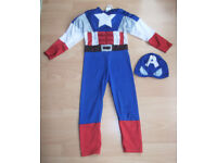 Marvel Captain America Childrens Fancy Dress Outfit - Age 4-6 years