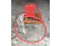 Basket Ball Ring Hoop in Red with goal net