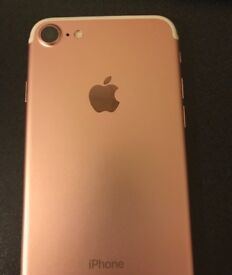 Apple iPhone 7,128GB,rose gold , vodafone in excellent condition