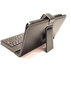 Leather Case Cover with USB Keyboard (QWERTY) for 7 inch Tables