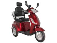Electric Mobility Scooter 3 Wheeled 60V 100AH 800W GP500R Model - Green Power Red/Silver/Black/Blue