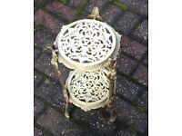 Brass fireside teapot stand