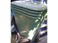 1 Garden Water Butt + lid for sale. German Graf 203Ltr. Storage/compost