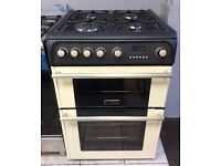 Cannon 60cm Double Oven Gas Cooker (Cream) With Warranty