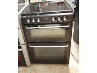 6 MONTHS WARRANTY Black New Home 60cm, double oven electric cooker WARRANTY