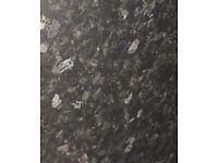 2m Black slate effect laminate kitchen worktop