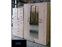 Bedroom Furniture wardrobe, chest drawers