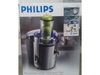 Phillips Juicer brushed stainless steel and black HR1861. Easy to use and clean