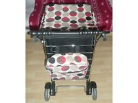 Marketeer Deluxe large SHOPPING 6 swivel wheels TROLLEY with Cooler BAG