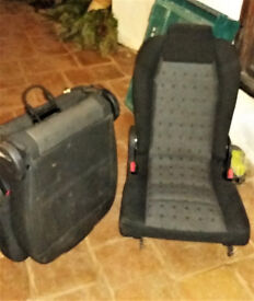 Two third row seats for Peugeot 307 SW. Black. Good condition.