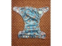 Charlie Banana One Size Cloth Nappy with 2 inserts | ROBOTS | £22 | GREAT CONDITION | Leeds