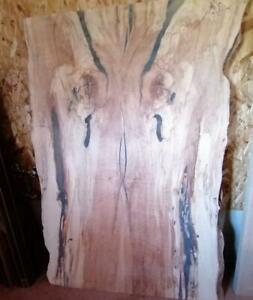Ontario Walnut Spalted Maple Rustic Wood Coffee Table Slabs Tops(epoxy filling) for Your DIY Projects