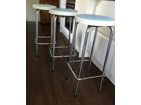 Vintage 70's Retro Kitchen / Bar Stools
