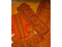 3 Pairs of Retro 1970's Curtains - various sizes