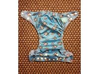Charlie Banana One Size Cloth Nappy with 2 inserts | ROBOTS | £22 | GREAT CONDITION | Rawmarsh