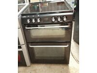 6 MONTHS WARRANTY New Home 60cm, double oven electric cooker FREE DELIVERY