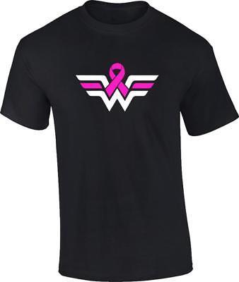 Wonder Woman Breast Cancer Awareness Pink Ribbon T-Shirt - Pink Wonder Woman