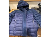 Men's Small Superdry Fuji jacket- as new- navy blue