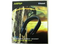 NEW. JSOUND SERIES JBH04 BLUETOOTH STEREO HEADPHONES