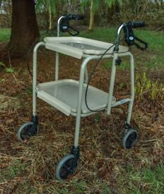 Mobility four- wheeled walker and kitchen trolley