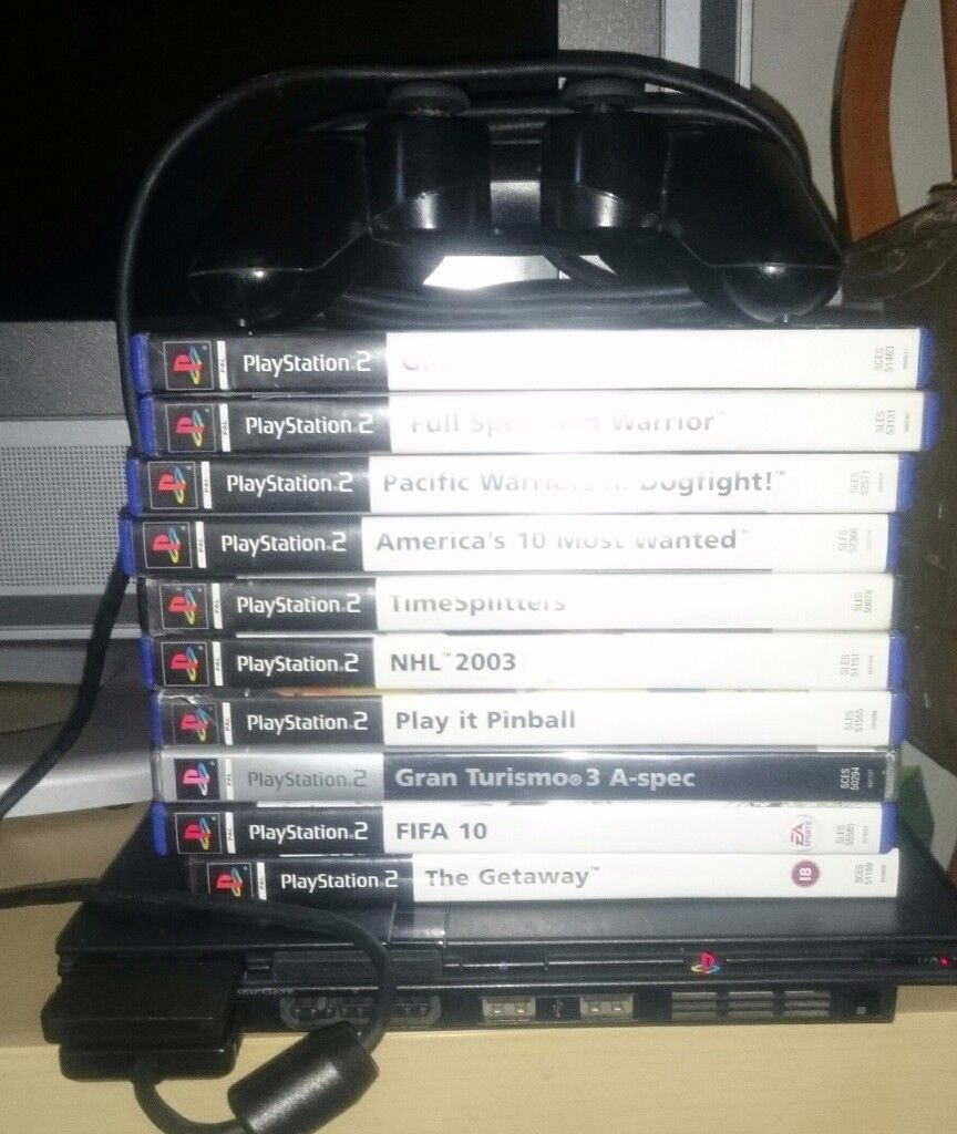 SONY PLAYSTATION 2 CONSOLE AND 22 GAMES