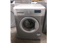 FREE DELIVERY, VERY GOOD CONDITION Silver Beko 6KG, 1600 spin washing machine WARRANTY