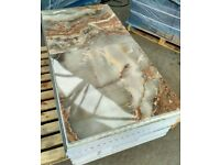 TILES JOBLOT: Grey/ brown marble effect rectified polished porcelain tiles 60x60cm 40sqm