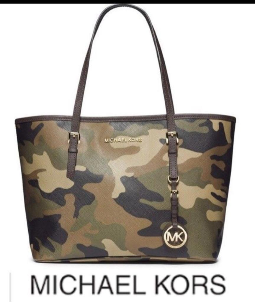 d5d8a8925849 Michael Kors Jet Set Camouflage Saffiano Leather Tote Bag | in Irlam ...