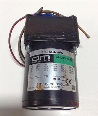 Oriental Induction Motor 3ik15gn-aw W Gearhead 3gn5ka