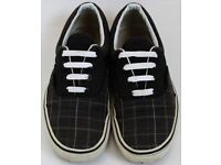 Women's Size 4.5 Vans Trainers - Black, Grey and White
