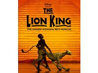 5x Tickets to see The Lion King at the Lyceum Theatre, on the 22nd of May. 7:30pm,Stalls seat ,T row