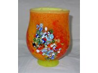 Colorful Vintage Original Murano Vase, 'Murrine' decorations – Mint condition, Cash on collection