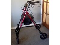 Mobility walker/Rollator, nearly new