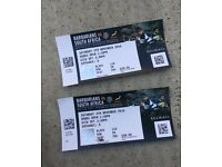 two tickets for Barbarians Vs South Africa Wembley Sat 5th Nov