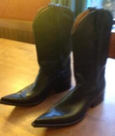 Leather Cowboy Boots size 10
