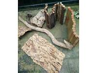 All different types of reptile logs/wood
