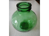 Italian-Viresa-Carboy-Demijohn-Bottle-Garden-Green-Glass-Terrarium