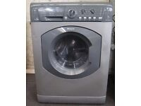 7KG GREY HOTPOINT WASHING MACHINE & DRYER, EXCELLENT CONDITION, 4 MONTHS WARRANTY