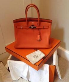 Hermes Birkin authentic orange bag