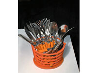 BRAND NEW 24 piece Stainless Steel Cutlery Set with Stand