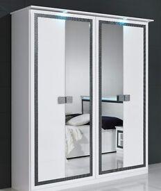 Wardrobe Bedroom 4 door white good condition