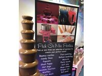 Chocolate Fountain Candy floss Slush machine Waffles Bouncy castle hire in London & Essex